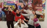 """Die Kinder- und Jugendhaus-""""Impro-Gang"""".; Quelle: Kinder- und Jugendhaus Südwest"""